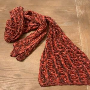 Wool red scarf